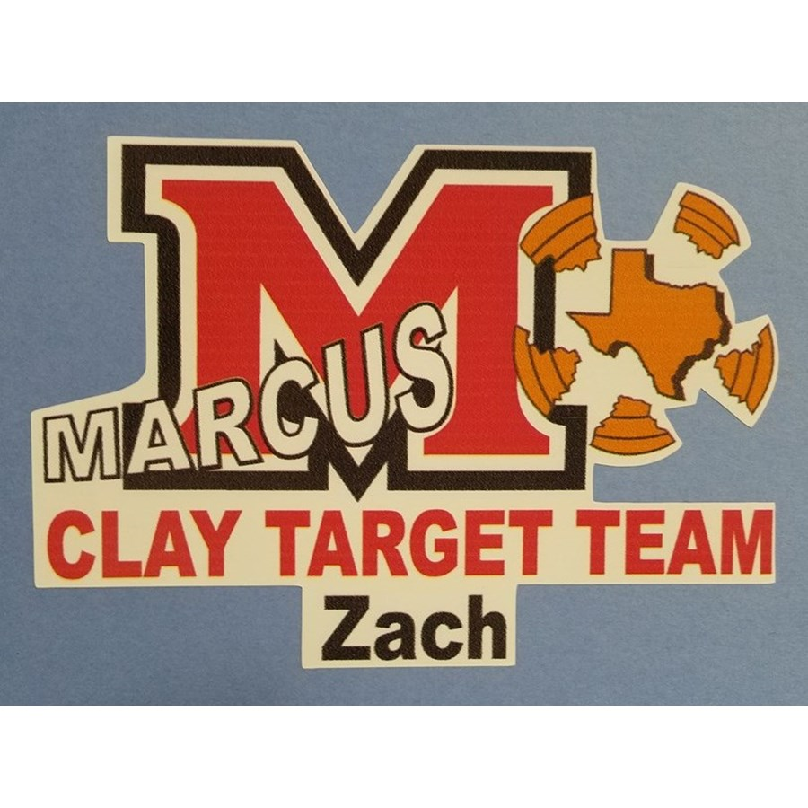 LARGE MCTT Decal (personalized) with white background
