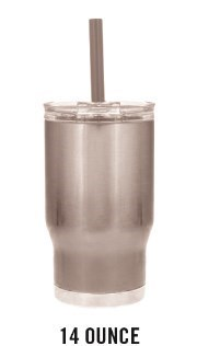 14 oz. Insulated Cup w/ MCTT Logo & Personalized